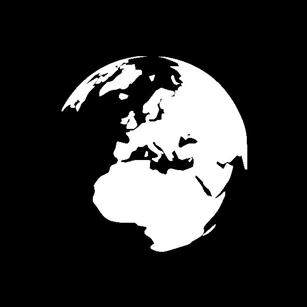 white logo globe